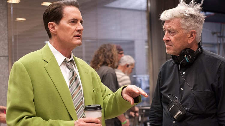 Kyle MacLachlan, David Lynch - Twin Peaks 3. évad (Fotó: Entertainment Weekly)